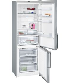 Siemens 70/30 No Frost Freestanding Fridge Freezer - Stainless Steel -15630 Top Freezer Refrigerator, French Door Refrigerator, Freestanding Fridge, Frigidaire, Bottle Rack, Safety Glass, Design Moderne, Door Design, Bathroom Medicine Cabinet