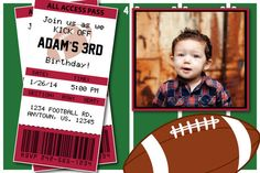 Hey, I found this really awesome Etsy listing at https://www.etsy.com/listing/176014286/football-birthday-party-or-superbowl