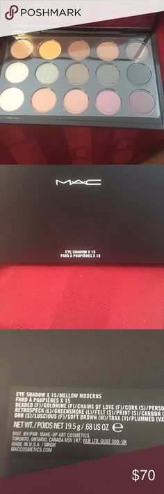 Mac Eyeshawdows, Authentic, X 15 Mellow Moderns. Mac Cosmetics, X15, Mellow Moderns Eyeshadows. Bought in NYC Mac Times Square and never used!  No trades. Bundle to save more!   MAC Cosmetics Makeup Eyeshadow