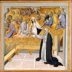 Giovanni di Paolo - Wikipedia, la enciclopedia libre. El matrimonio místico de Santa Catalina de Siena.