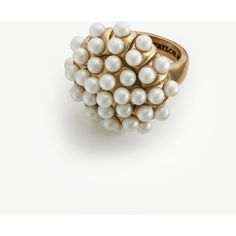 Ann Taylor Pearlized Lucite Ring ($40) ❤ liked on Polyvore featuring jewelry, rings, gold, lucite jewelry, polish jewelry, acrylic rings, lucite ring and acrylic jewelry