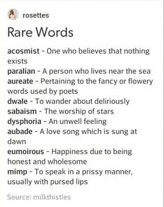 Rare Words to Use Writing Tools Book Writing Tips, Writing Words, Writing Skills, Writing Prompts, Writing Ideas, Writing Help, Creative Writing Inspiration, Essay Writing, Sentence Prompts