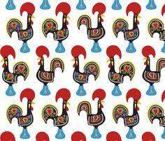 O Galo De Barcelos fabric by fattcheese on Spoonflower - custom fabric
