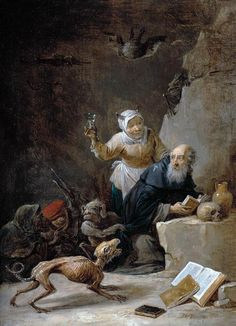 David TENIERS the Younger -The Temptation of St Anthony