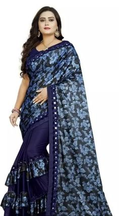 Banglory Maalai Ruffle Sarees with Blouse Piece link in bio +91 7999219541 COD Available | Free Return & Full Refund Price: ₹499 Feel free to call us on +91-7999219541 if you need any help with ordering online. Thank you. #rufflesaree #saree #lehenga #uk #ethnicwear #embroiderywork #bridaldresses Ethnic Sarees, Indian Sarees, Fancy Sarees, Party Wear Sarees, Mirror Work Saree, Satin Saree, Latest Sarees, Work Sarees, Art Silk Sarees