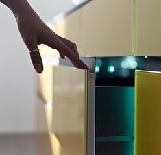 Get the skinny on this! the lovely, sleek, and slim #artematica #glass in yellow. #Valcucine