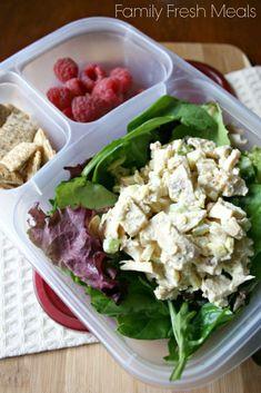 50 healthy work lunch ideas - FamilyFreshMeals.com - Greek Yogurt Chicken Salad