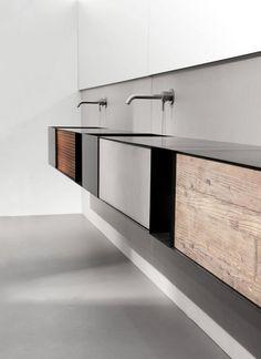 Moab80 Badezimmer Unterschrank, Badezimmer Design, Waschtisch Holz,  Waschbecken, Blech, Minimalistisches Badezimmer