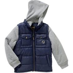 iXtreme Boys Puffer Jacket, Available in 4 Designs 11 Colors, Size: 5, Blue