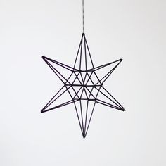 Mobiles are no longer just for nurseries, and I couldn't be more pleased. These himmeli straw mobiles from AM. Bird Mobile, Hanging Mobile, Straw Sculpture, Perth, Mobiles, Straw Art, Christmas Crafts, Christmas Decorations, Geometric Sculpture