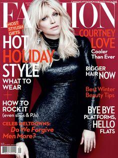 Fashion Magazine Winter 2014 - Courtney Love by Chris Nicholls, styling by Zeina Esmail