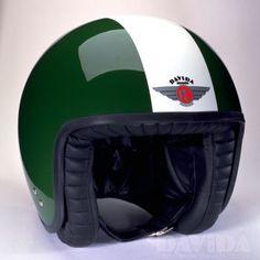 Davida jet Helmets: two tone BRG,White Product Code: 80231