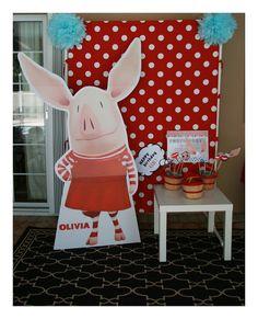 Olivia The Pig Birthday Party -soooo cute!