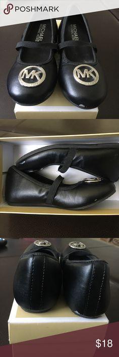 "Michael Kors toddler girls flats A decent pair of girls Michael Kors ""Faye Ria Strap"" shoes in a toddler 11. Worn a handful of times. Michael Kors Shoes Dress Shoes"