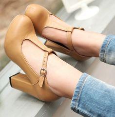 ENMAYER Black Apricot 2014 new high heel shoes heels platform women fashion patent sexy pumps hot size 34-39 $62.83