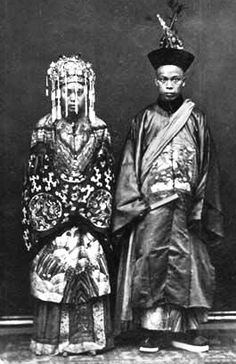A Manuchu official's wedding in China during the Qing dynasty.