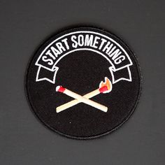 For the self-starter, big dreamer, or best campfire builder. This embroidered patch comes with an iron-on backing, so it's an easy addition to your denim jacket (or bag, or back pocket, or anything else).Embroidered twill with iron-on backing, 3x3 inches in size.