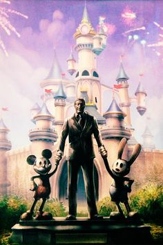 this is how the Disney land statue should have been, R.I.P Walter Elias Disney your son Oswald the lucky rabbit is home where he belongs.