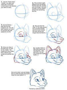 Bildergebnis für how to draw a furry
