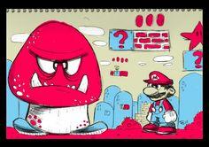Les classic du jeu vidéo, Mario, Sonic & co sous le crayon de Tony Ganem, un très beau Fan Art.