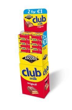 Jacob's Club Milk Instore Promotional Unit by Mesh Design. www.meshdesign.ie