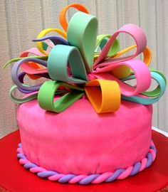 Cake with a big Bow for my beloved Granddaughter Milochka by Ludmila Petrovskaja.