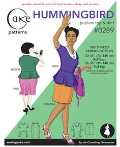 Polka Dot Overload | Sewing, knitting & vintage projects, tips, tutorials and cartoons!: Hello, Hummingbird (Cake Patterns peplum knit top, #0289)