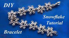 Snowflake beaded bracelet - tutorial