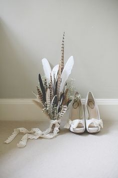 Relaxed Feather Wedding Feather Bouquet http://www.clearphotography.co.uk/