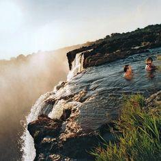 Swimming @ Victoria Falls, Livingstone Island, Zambia