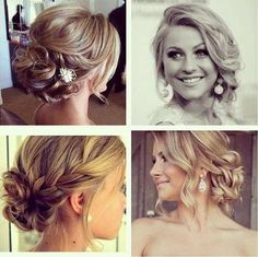 cute wedding hair - up do   Corver Bate