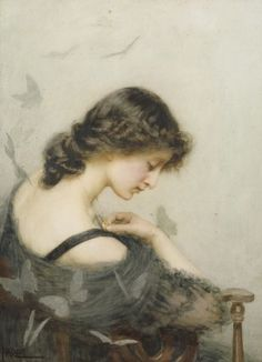 St. George Hare (1857-1933) - black butterflies