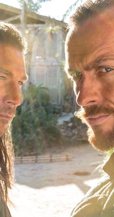 Toby Stephens and Zach McGowan in Black Sails Black Sails Vane, Black Sails Starz, Luke Arnold, Hannah New, Charles Vane, Jessica Parker Kennedy, Tom Hopper, Captain Flint, Toby Stephens