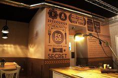restaurante decoracion vintage - Buscar con Google