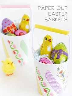 Make a Mini Easter Basket from Paper Cups