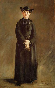 Portrait de l'abbé Hurel by Édouard Manet (French 1832-1883)