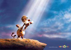 Lion King | Ads of the World™ Credits:  Agency: Creative Directors: Art Director: , Copywriter: Cheryl Davies Photographer: Huey Grey