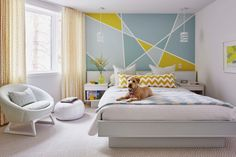 Accent wall in a kids room