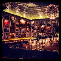 Berners Tavern. Love those walls.