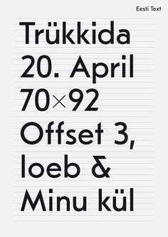 Eesti Text —Grotesk #typography #type #graphicdesign