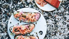 Smoked Salmon Tartines with Fried Capers   Bon Appetit Recipe