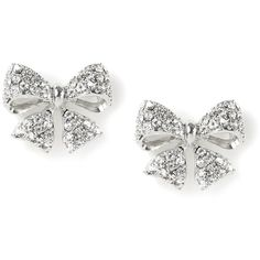 Rhinestone Encrusted Bow Stud Earrings   Icing ($12) ❤ liked on Polyvore featuring jewelry, earrings, accessories, stud earrings, bow stud earrings, bow earrings, druzy earrings and drusy jewelry