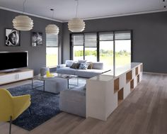 Amenajare living - design interior contemporan Living, Design Interior, Design Case, Design Projects, House Design, Home, Houses, House, Ad Home