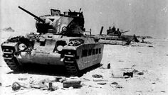A knocked-out Matilda of the 4th Royal Tank Regiment, near the Gazala defensive line.