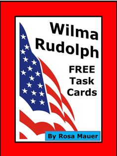 Wilma Rudolph Task Cards and Worksheet Activity 5th Grade Reading, Guided Reading, History Activities, Learning Activities, Wilma Rudolph, Teacher Resources, Classroom Resources, Vocabulary Worksheets, Matching Cards