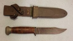 USN MKI knife Pal RH35 with USN MKI scabbard