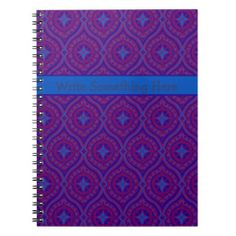 Shop Spiral Notebook or Journal: Purple, Blue Pattern created by poshandpainterly.