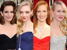 The Side Swept Hairstyle: Tine Fey, Amanda Seyfried, Jessica Chastain, Naomi Watts
