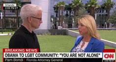CNN's Anderson Cooper asks Florida Attorney General Pam Bondi about her past positions on marriage equality (Screen cap)