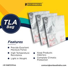 These bags are highly #reliable in controlling the #moisture from #pharma or #drugpackaging products and protects them for a long period. #TripleLaminatedBags #TLABags contact@sorbeadindia.com +91 9687211144 Drug Packaging, Period, Moisturizer, Bags, Products, Moisturiser, Handbags, Bag, Gadget